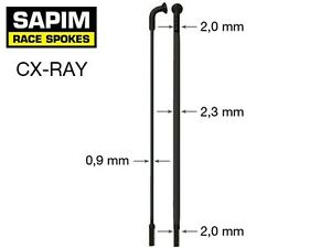 Sapim CX Ray Aero Bladed Spokes, BLACK All Sizes 210-310mm +Nipples
