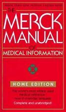 The Merck Manual of Medical Information by Robert Berkow (1999, Paperback)