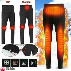 USB Electric Heated Warm Pants Winter Warmer Heating Trousers Elastic Unisex