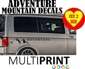 Camper Van Adventure Sticker Motor Home Caravan Van Vinyl Decal Conversion VAN23