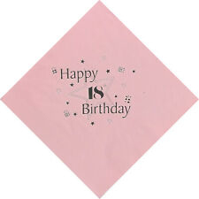 18th Birthday Luxury 3 Ply Napkins in PINK
