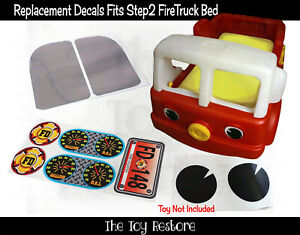 Replacement Stickers fits Step2 Fire Firetruck Car Toddler Bed Kids Bedroom