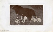 "Vintage Postcard ""CAMPING OUT"" Four Puppies under an Umbrella (Ref: BBN)"