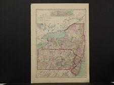 United States Map, 1873 New York, Pennsylvania, New Jersey Q4#03