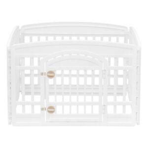 IRIS 24'' 4 Panel Exercise Pet Playpen with Door, White