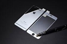 Protector de Pantalla de Vidrio Templado Premium para Apple iPhone 7 delantera y trasera de Plata