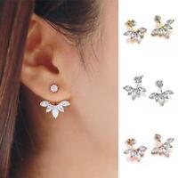 1Pair Fashion Jewelry Women Lady Elegant Crystal Rhinestone Ear Stud Earrings HH