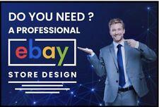 Professional eBay Custom Store Shop Design + Listing Template + Support