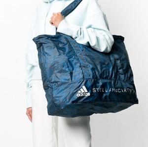 ADIDAS BY STELLA MCCARTNEY TRAVEL TRAINING TOTE BAG -BLUE SNAKESKIN FP8838 LARGE