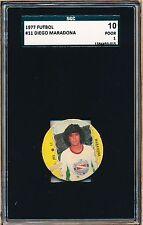 1977 Diego Maradona Crack Futbol Rookie!  SGC 10 = PSA 1 VHTF Soccer card!
