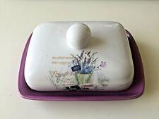 Burriera romantica da cucina in ceramica decorata cm 17,5x13H8