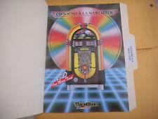 WURLITZER CD SOUND A LA  JUKEBOX   ARCADE   GAME  FLYER
