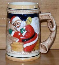 Santa Stein Reindeer Sleigh Santa Mug