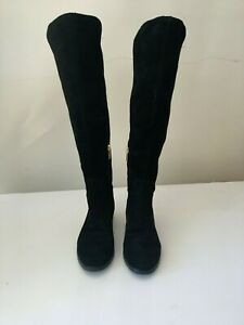 Karl Lagerfeld Black over knee Suede Boots