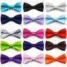 Baby Junge Herren Einfarbig Fliege Formelle Hochzeit Party Gebunden Krawatte B2n