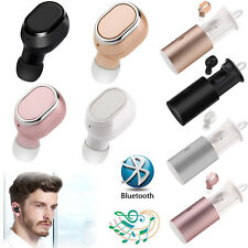 Wireless Mini Bluetooth Stereo Headset In-Ear Earphone Earbud with Charging Box