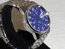 Revue Thommen Airspeed Men's Leather Strap Chronograph Day Date Watch 16051.6