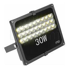 30W High-Grade Outdoor LED Flood Light 3500K Warm White IP65 Black Waterproof