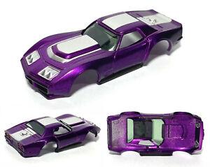 1pc AFX-tras Aurora HO A/P A Production Chevy Corvette BODY Fits AFX TOMY Purple
