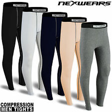 Mens Compression Tights Base Layer Activewear Sports Under Pant Trouser