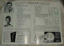 1960 Radio City Music Hall Program THE DARK at the TOP of the STAIRS Rob Preston