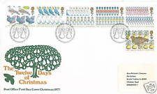GB FDC The 12 days of Christmas 20.11.1977