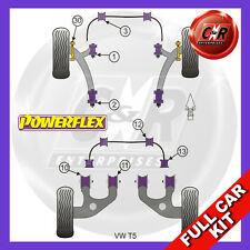 VW T5 03 on Powerflex Complete Bush Kit Front Arm Front Bushes Camber Adjustable