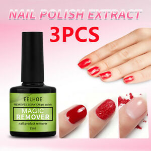 3PCS EELHOE Burst Nail Gel Remover Polish Soak Off Primer Cleaner 15ml