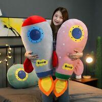 50cm-90cm Creative Rocket Plush Toy Soft Stuffed Cartoon Doll Simlution Toy