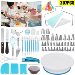 207PCS Cake Turntable Rotating Decorating Tool Baking Flower Icing Piping
