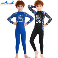 New listing Kids Diving Suit Full Body Snorkeling Wetsuit Underwater Surfing Swimsuit