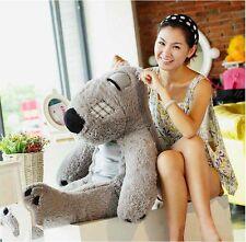 80cm Giant Huge Big Stuffed Animals Grey Unlucky Bear Plush Toy Pillow Kids Gift