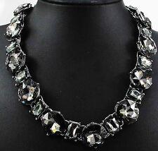 Fashion Pendant Crystal Bib Statement charm chunky Glass collar Necklace 888