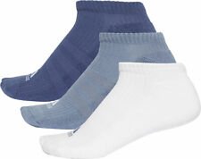 adidas 3 Stripe No Show (3 Pack) Training Socks - Blue