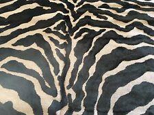 G.P. & J. Baker Animal Skin Tiger Velvet Upholstery Fabric- Mombasa Mink 1.75 yd