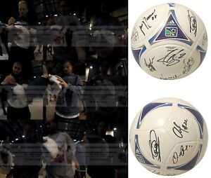 2017 Vancouver Whitecaps Team Autographed Signed Adidas MLS Soccer Ball Proof