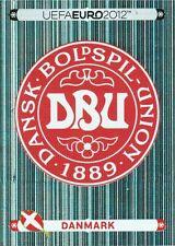 Panini 195 Logo Emblem Danmark Dänemark EM 2012 Poland - Ukraine