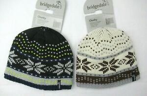 Bridgedale Chunky Wool Blend Fleece Lined Knit Winter Hat