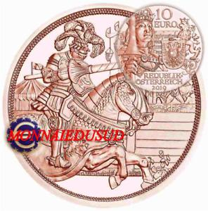 10 Euro Commémorative Autriche 2019 - Les Chevaliers