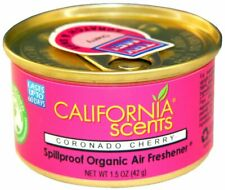 4 x California Scents Spillproof Organic Air Freshener Car Home Coronado Cherry