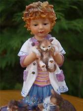 THE CAT THAT GOT THE CREAM Christine Haworth Poppets by Leonardo Collection