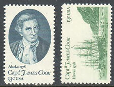 SC#1732 - 1733 - 13c Captain Cook Pair MNH