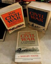 The Civil War by Shelby Foote (1974), Hardcover w/dust jackets 3 volumes