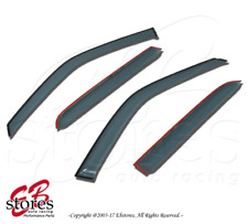 Light Tinted Out-Channel Vent Visor Deflector 4pcs For 07-12 Toyota Yaris Sedan