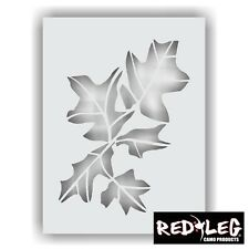 Redleg Camo Products LARGE 12x9 oak leaf camouflage stencil airbrush maple woods