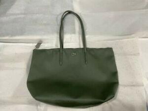lacoste shopping bag tote bag dark green