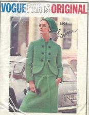 1966 Vintage VOGUE Sewing Pattern B38 JACKET & DRESS (1515R) By LANVIN