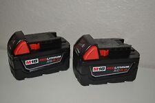(2-Pack) New Milwaukee 48-11-1850 M18 18v  XC 5.0 Batteries 48-11-1852