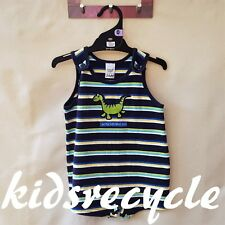 TARGET Baby BOYS Striped ROMPER One Piece SUIT Outfit (Dinosaur Detail) SIZE 0