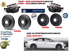 Pour Audi A5 3.0TDI Hb Sb 09-17 avant Arrière Performance Kit Disque Frein +